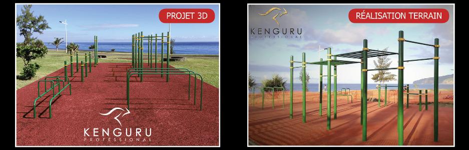 Terrains sportifs sur mesure Kenguru Pro