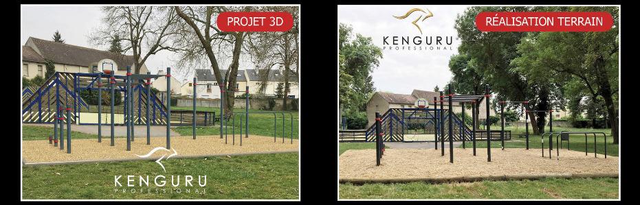 Installation des agrès Street Workout Kenguru Pro